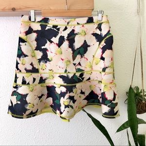 J Crew Neoprene tropical floral skirt NWOT
